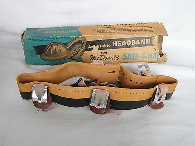 VINTAGE NOS NEW OLD STOCK McDONALD HARD HAT ADJUSTABLE SUSPENSION HEADBAND IOB