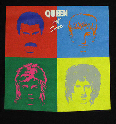 Queen Hot Space _RARE_ L shirt vtg  Deadstock Concert Rock tour t-shirt w/lp art
