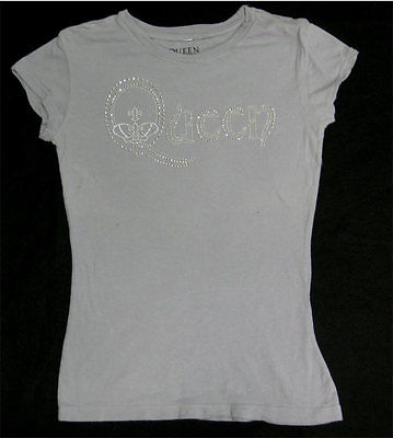 Queen Sequined Girly _RARE Womens/Ladies M shirt vtg Deadstock Rock Concert Tour