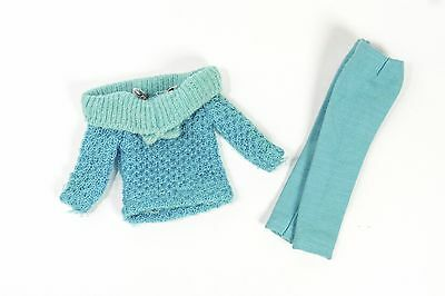 1965 Vintage Skipper doll Outdoor Casuals #1915 Turquoise pants knit sweater