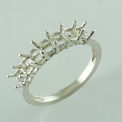 Semi Mount Oval Shape Cluster Ring In 3x4 MM 925 Silver Fashion Top Gift Jewelry