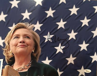 Hillary Clinton Signed 11x14 Color Photo JSA LOA Campaign 2016 First Lady