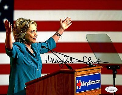 Hillary Rodham Clinton Signed 8x10 Color Photo First Lady JSA LOA