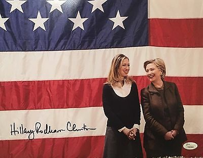 Hillary Rodham Clinton Signed 11x14 Color Photo JSA LOA First Lady Bill Rare