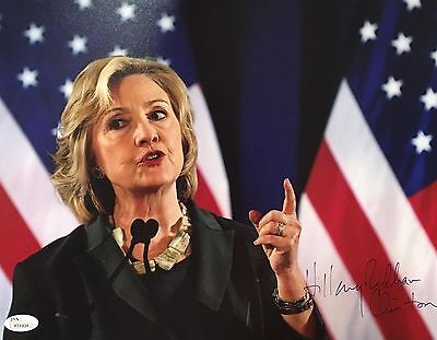 Hillary Rodham Clinton Signed 11x14 Color Photo Vintage 2008 Signature JSA LOA