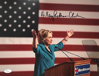 Hillary Rodham Clinton Signed 11x14 Photo JSA LOA First Lady Candidate 2016 USA