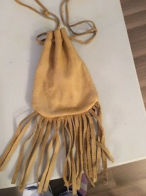 Leather pouch, Drawstring