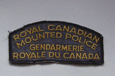 Vintage RCMP Royal Canadian Mounted Police Patch