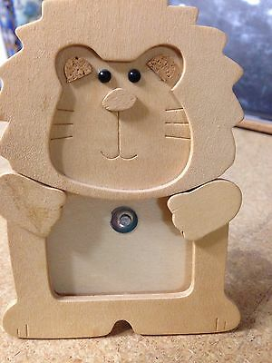 "Baby/Kids Photo Frame Wooden 2"" Lion Table Top Picture"