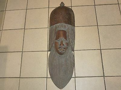 An Antique African Carved Wooden Tribal Mask 19th Century?