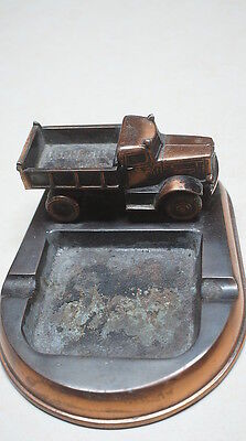 "Vintage Antique OSHKOSH 4 Wheel Drive Trucks Rare Dealer Ashtray,  8"" x 6"" x 3"""