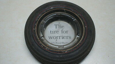 """Vintage Original Tire Ashtray U.S.Royal Master """"The Tire For Worriers"""""""