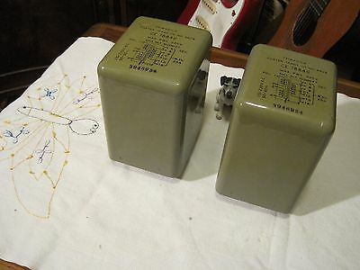 Foster Power Transformers   Matched Pair - Tube Amplifier - NOS