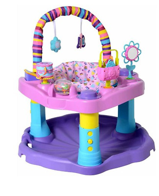Evenflo ExerSaucer Baby Sweet Tea Party Toy Part New Activity Center Pink Purple
