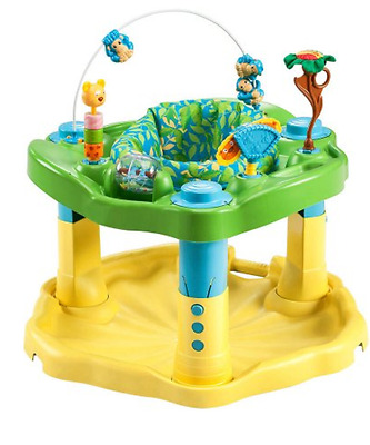 Evenflo ExerSaucer Baby Walker Delux Active Learning Center Zoo Friends New Safe