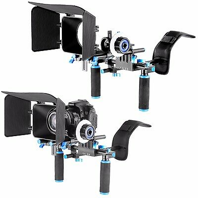 DSLR Rig Kit Shoulder Mount Rig with Follow Focus and Matte Box Video Camera