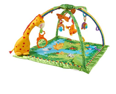 Gym Rainforest Fisher Price Baby Activity Toy Melodies Lights Deluxe And Play