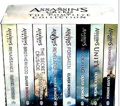 New ASSASSINS CREED THE COMPLETE COLLECTION 8 Book Box Set by Oliver Bowden