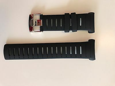 Suunto D6i Black Band Strap w/ screws (Stronger Strap for D6 Dive Computer)