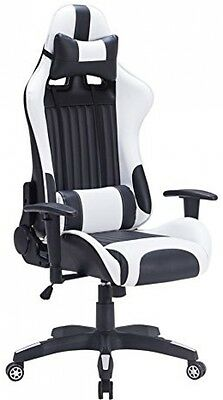 Luxury PU Leather Gaming Chair Racing Sport High Back Executive Office Desk Seat