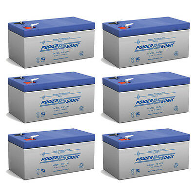 Power-Sonic PS-1230 12V 3AH Battery for Poulan WLT24 Weed Eater C-Max - 6 Pack
