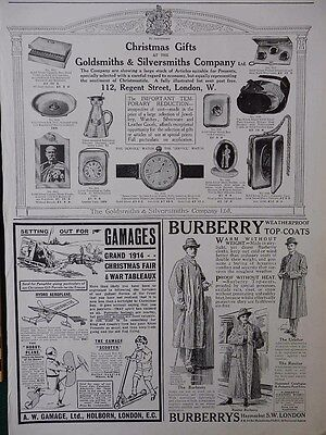 1914 Military Christmas Gifts From Goldsmiths London Gamages Burberry Ww1 Wwi