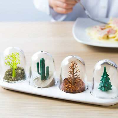 Four Seasons Salt And Pepper Shakers Set Of Spice Lichen Dining Gift