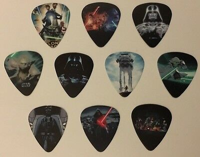 10 pcs Medium 0.71mm Guitar Picks 2 Sides Printing - STAR WARS