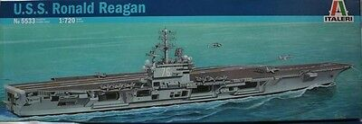 Italeri 5533 1/720 Model Kit US Navy Aircraft Carrier U.S.S Ronald Reagan CVN-76