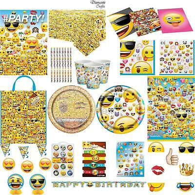 Emoji Official Party - Tableware Cups Plates Napkins Tablecover Invites Bags