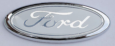 BADGE WHITE OVAL CLASSIC 115MM X 45MM FORD ESCORT SIERRA FIESTA NEW Ka Focus