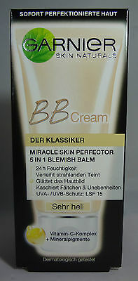 Garnier Miracle Skin Perfector BB Cream 5in1 Sehr Hell 50ml