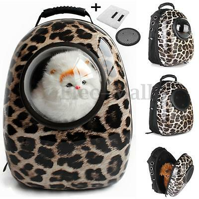 Leopard Dog Cat Pet Puppy Astronaut Capsule Backpack Breathable Carrier Bag Pack