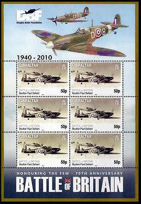 RAF BOULTON PAUL DEFIANT Battle of Britain WWII Aircraft Stamp Sheet (2010)