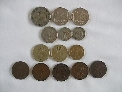 14 Various Date & Denomination Cyprus Coins