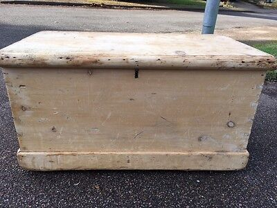 Antique pine chest/toy trunk - renovation project