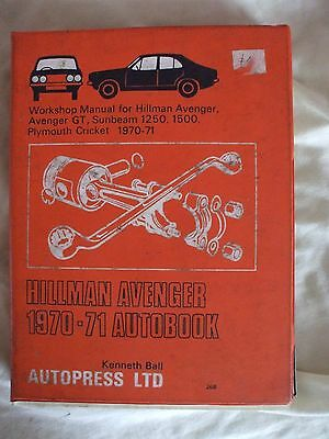 Hillman Avenger Workshop Manual - Autopress