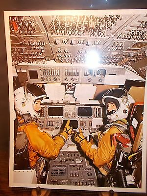 First Space Shuttle STS Astronauts and Instruments Insert Litho Photo #8 NASA