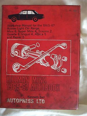 Hillman Minx - Workshop Manual - Autopress