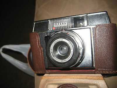 Vintage Collectable Ilford Sporti 6 Camera and Leather Case Dacora Lens