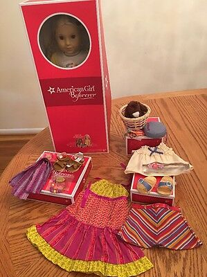 American Girl Doll Julie, Book And Accessories New