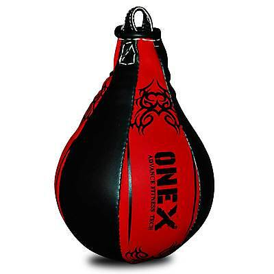 AXA Leather Speed Ball & Swivel Boxing Punch Bag Punching Training MMA Speedball