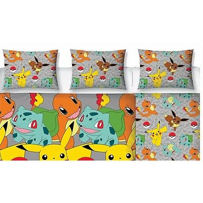 Pokemon Double Duvet And Pillowcases - Catch