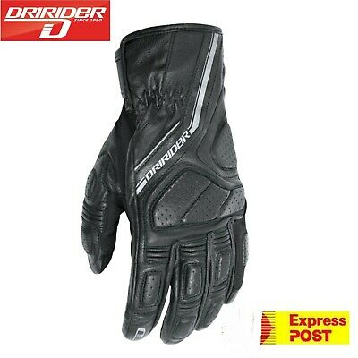 DRIRIDER PHANTOM MOTORCYCLE GLOVES New LEATHER Dry rider / Dri Rider