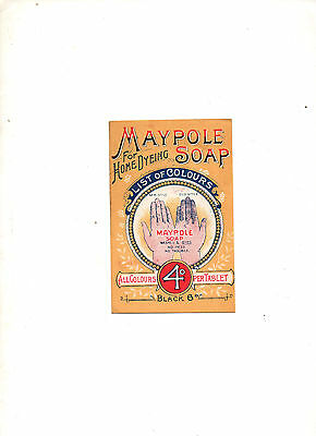 1920's, The Maypole Co (1899) Ltd. Home Dyeing Advertising Colour Leaflet London