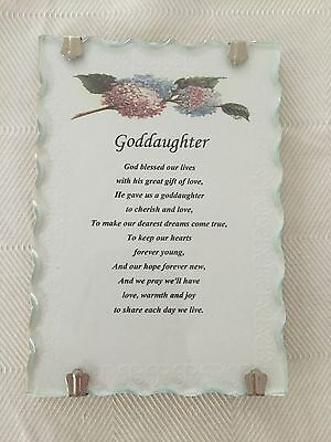 Goddaughter Plaque Brand New Great Gift