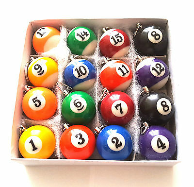 Pool Ball Key Rings - Numbers 1 To 15 You Pick