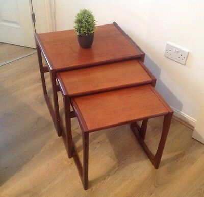 Vintage G Plan With Labels Wooden Nest Of Tables For Restoration