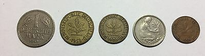 Germany 1950 Coins Lot