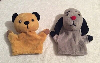 Two Vintage Sooty And Sweep Children's Hand Puppets 1997